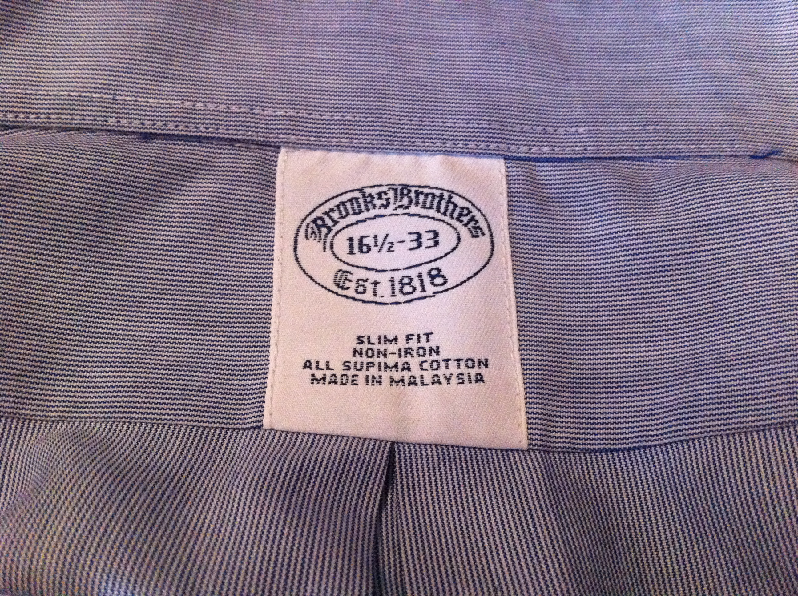 Brooks Brothers Review - this image shows the label on a Brooks Brothers  shirt 3126f28a2