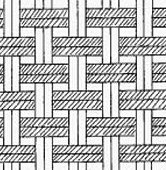 This image helps answer the question what is an oxford shirt by showing the pattern in an oxford shirt weave