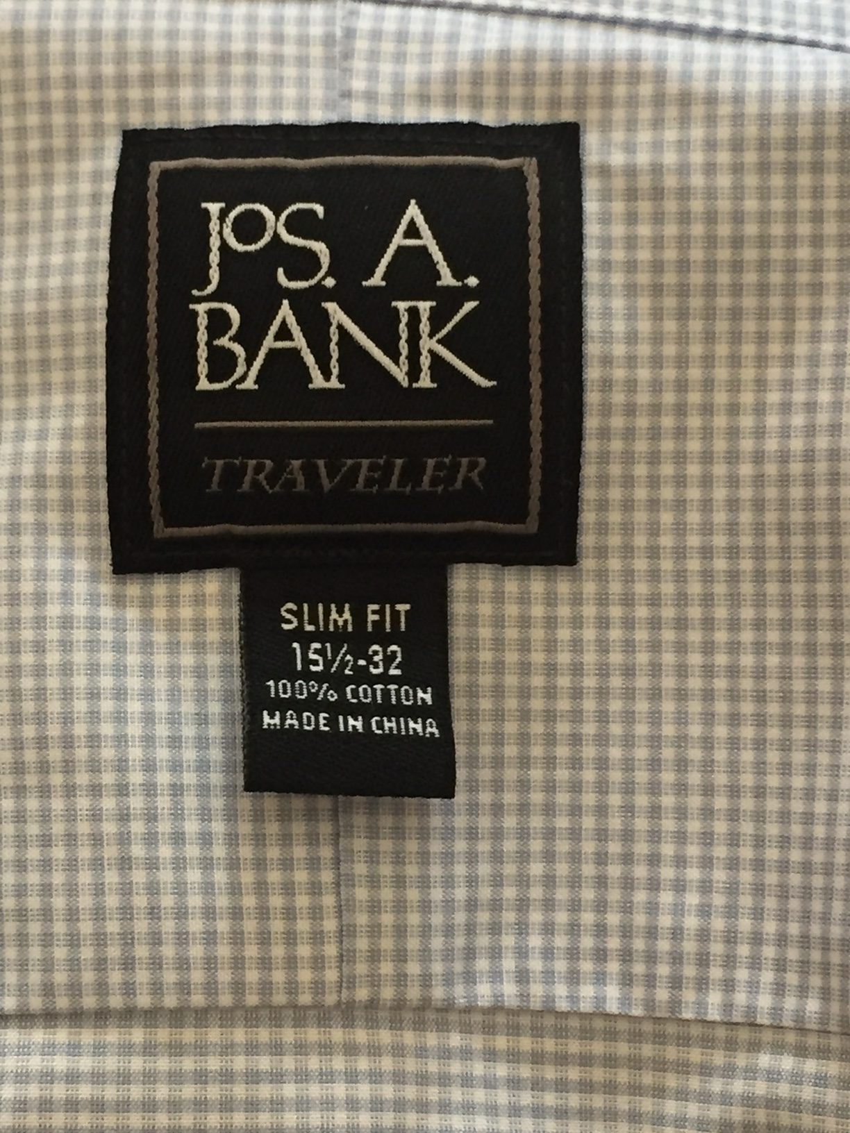 Jos A Bank shirts sizing - where are Jos A Bank shirts made